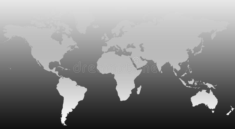 Carte II du monde illustration stock