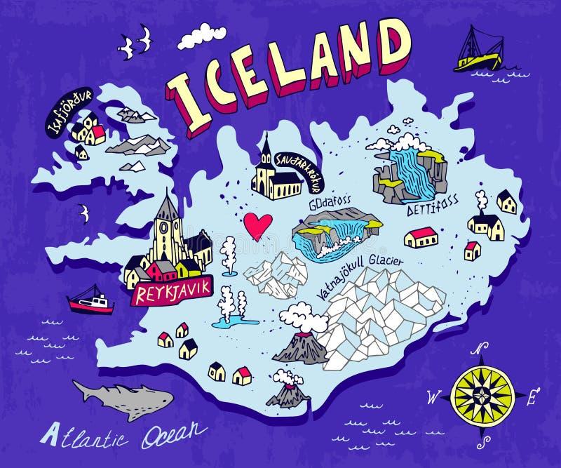 Carte illustrée illustration libre de droits