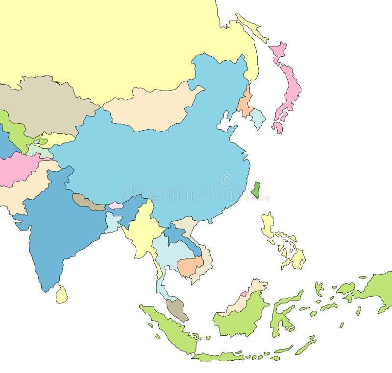 Carte illustrée de l'Asie