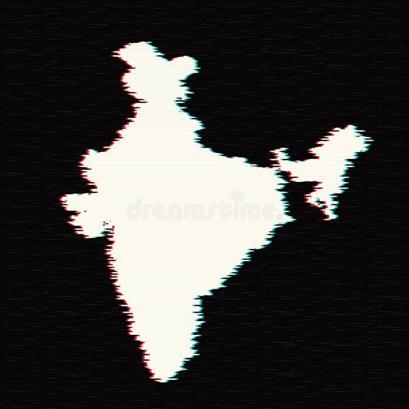 Carte Inde de vecteur illustration stock