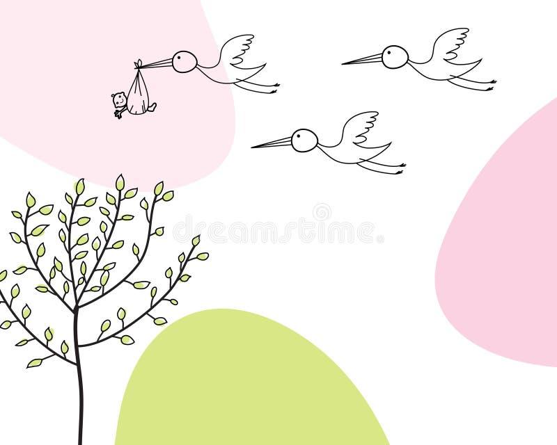 Carte infantile illustration de vecteur