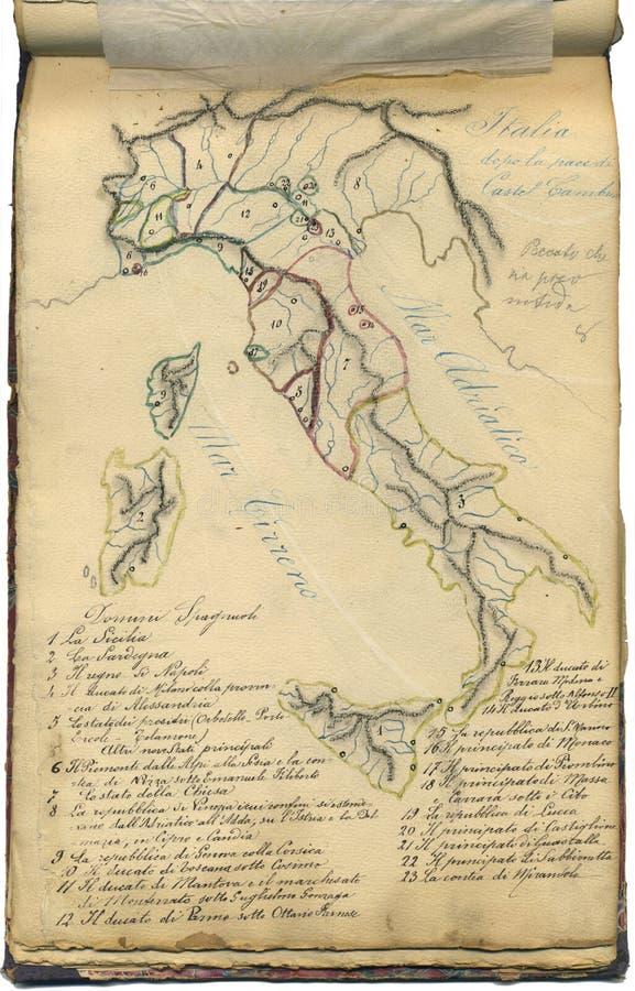 Carte initiale de cru de l Italie