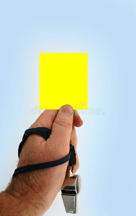 Carte jaune image stock