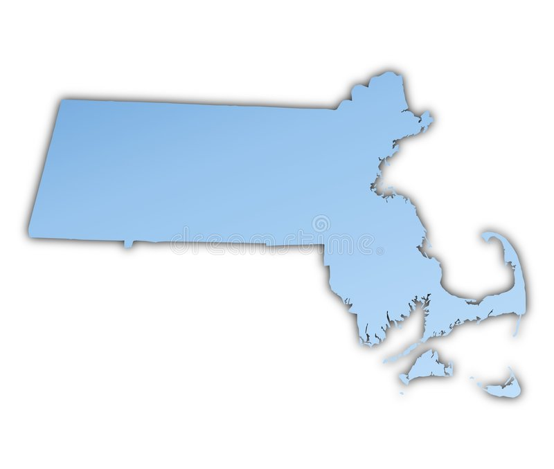 carte le Massachusetts Etats-Unis illustration de vecteur