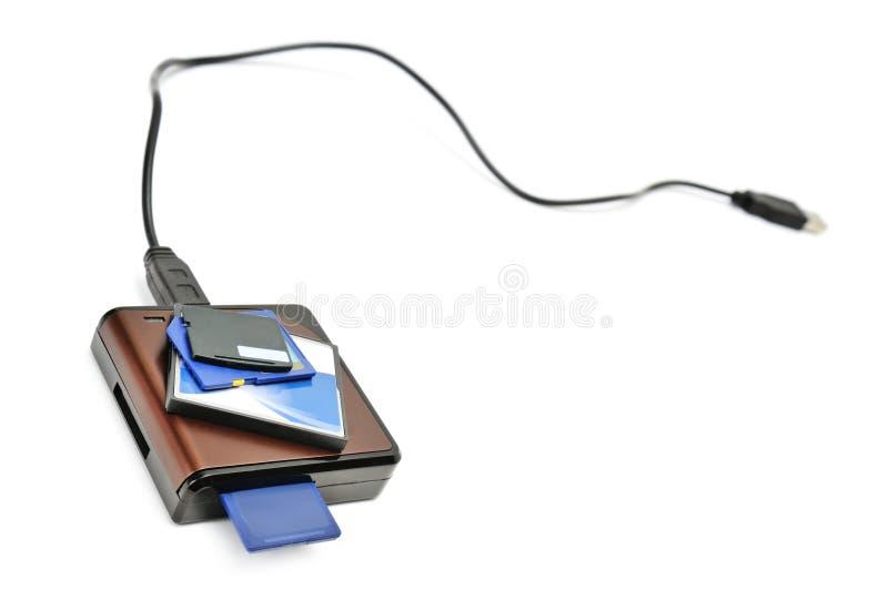 Carte-lecteur et mémoire instantanée image stock