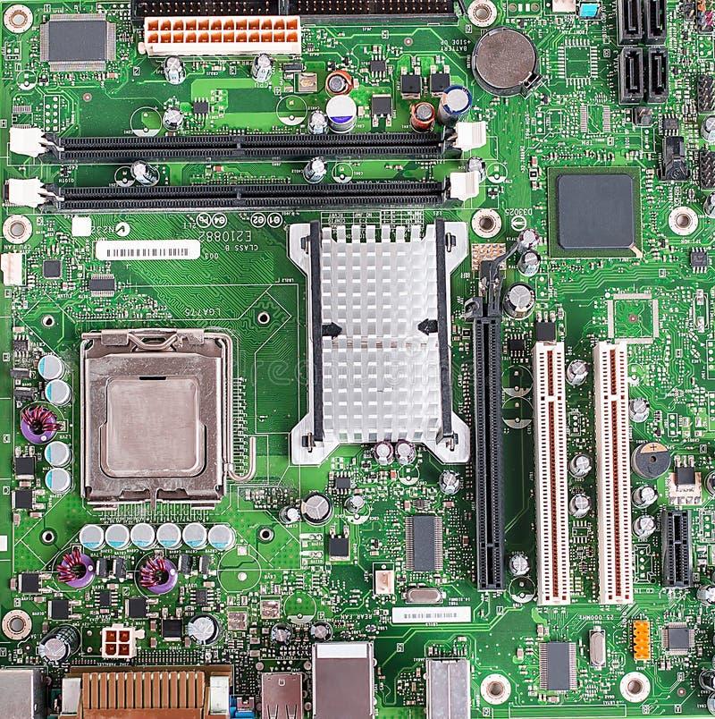 Carte mère d'ordinateur, carte électronique photographie stock