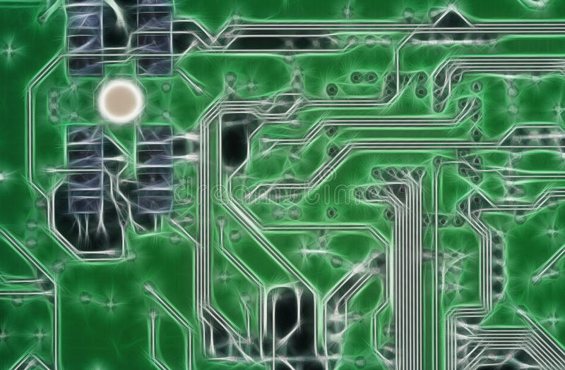 carte mère de circuit estampée illustration libre de droits