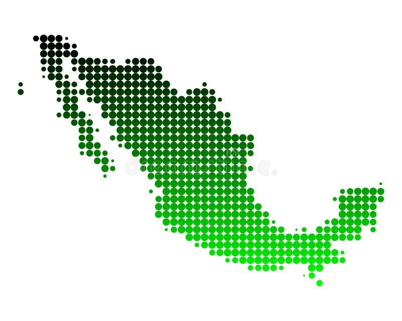 carte Mexique illustration libre de droits