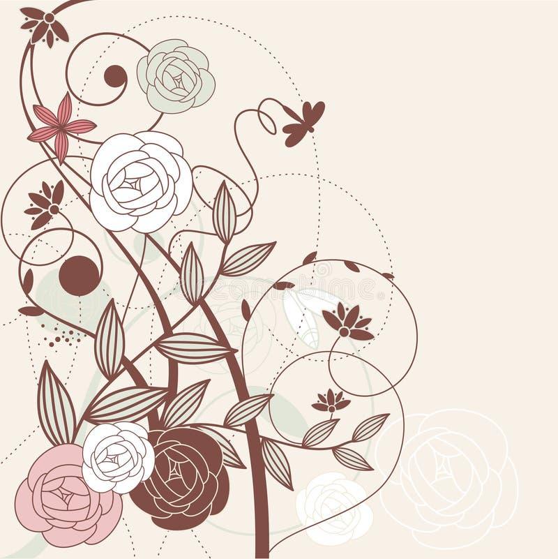 Carte mignonne abstraite de vecteur illustration de vecteur