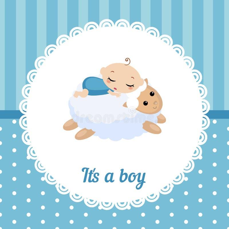 Carte mignonne de bébé illustration libre de droits