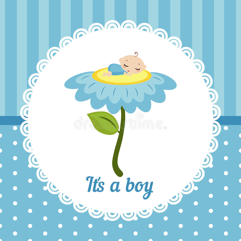 Carte mignonne de bébé illustration de vecteur