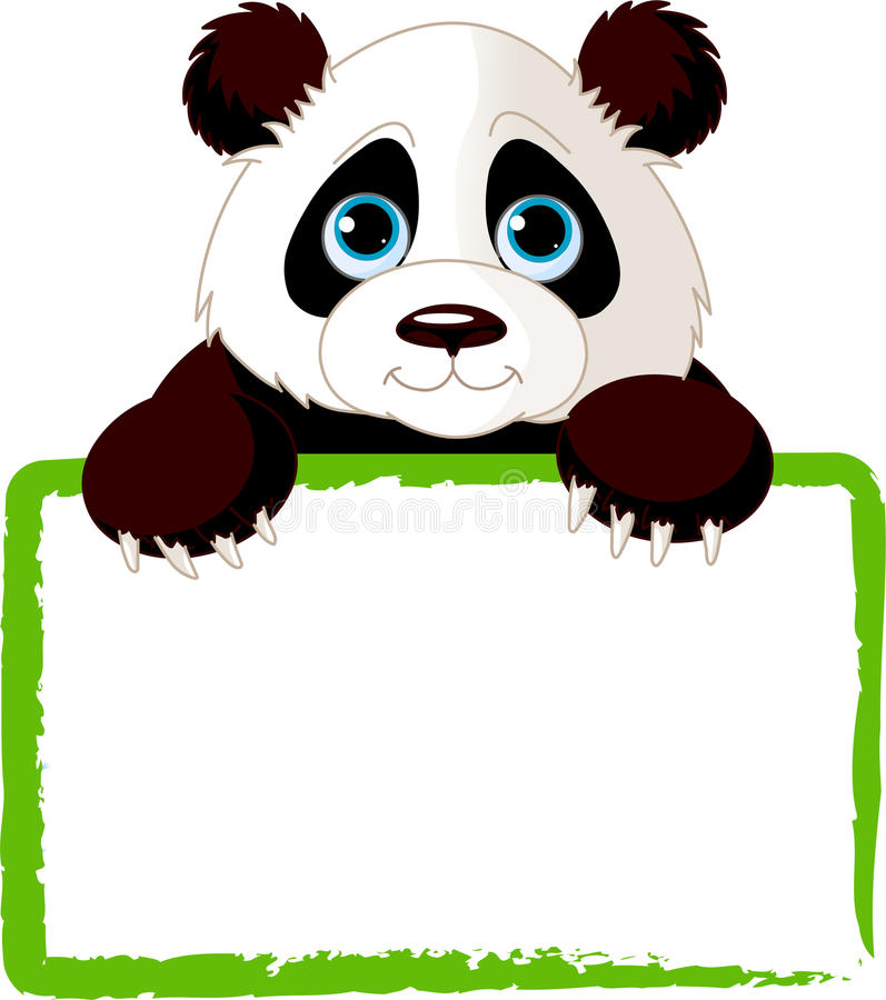 Carte mignonne de panda illustration stock