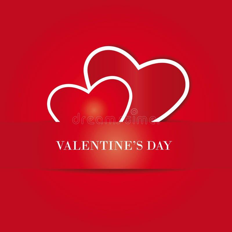 Carte mignonne simple le jour de valentine illustration libre de droits