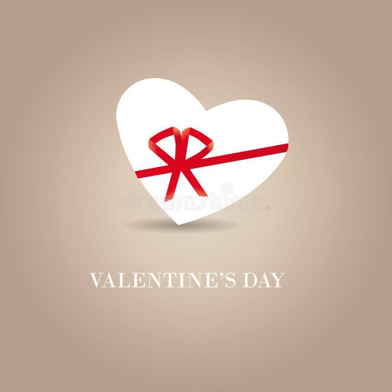 Carte mignonne simple le jour de valentine illustration stock
