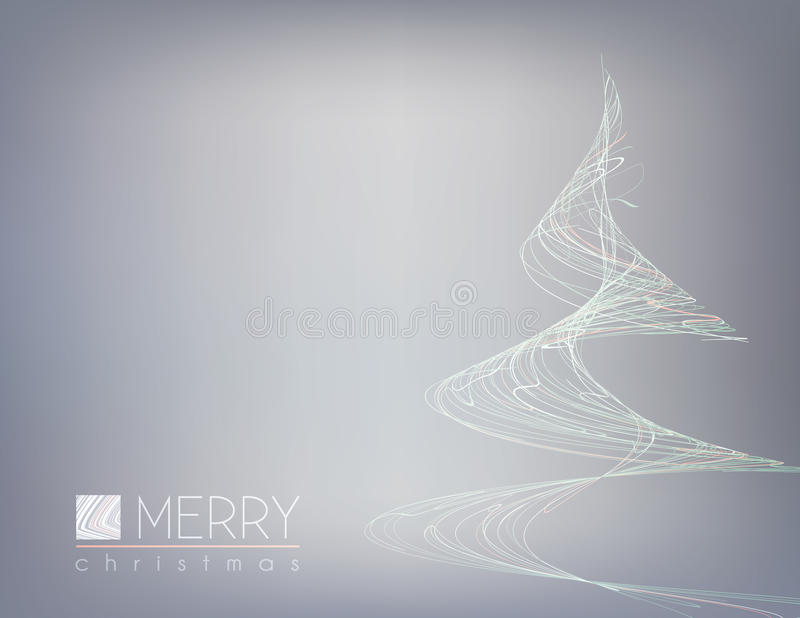Carte minimale avec l'arbre de Noël peu commun Disposition simple de vecteur illustration stock
