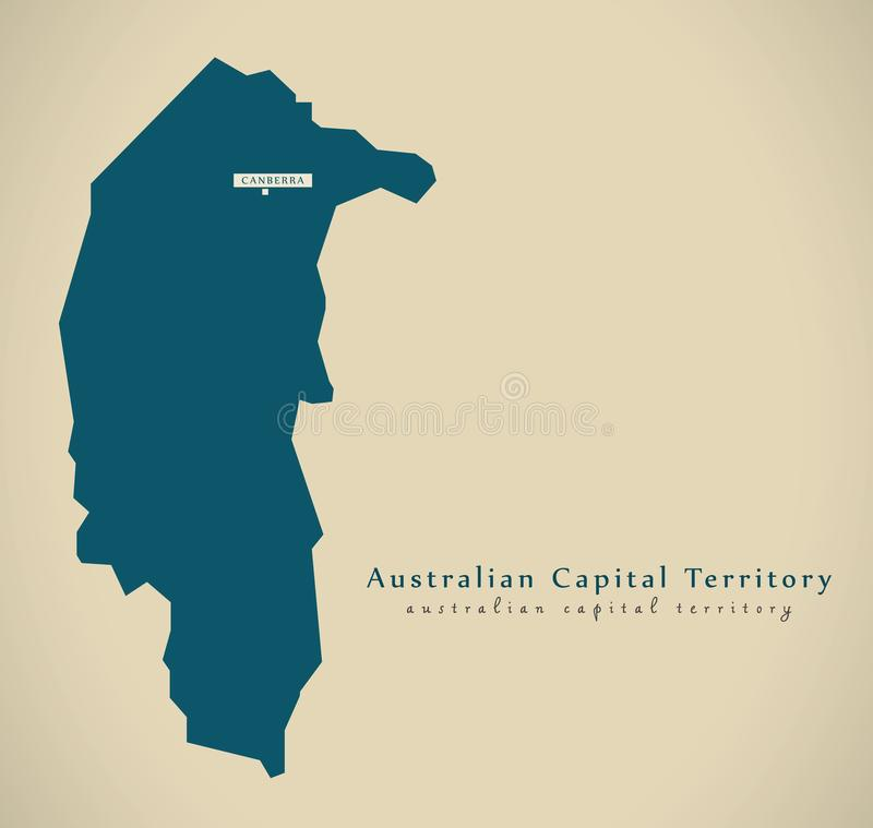 Carte moderne - AU de territoire de capitale australienne illustration libre de droits