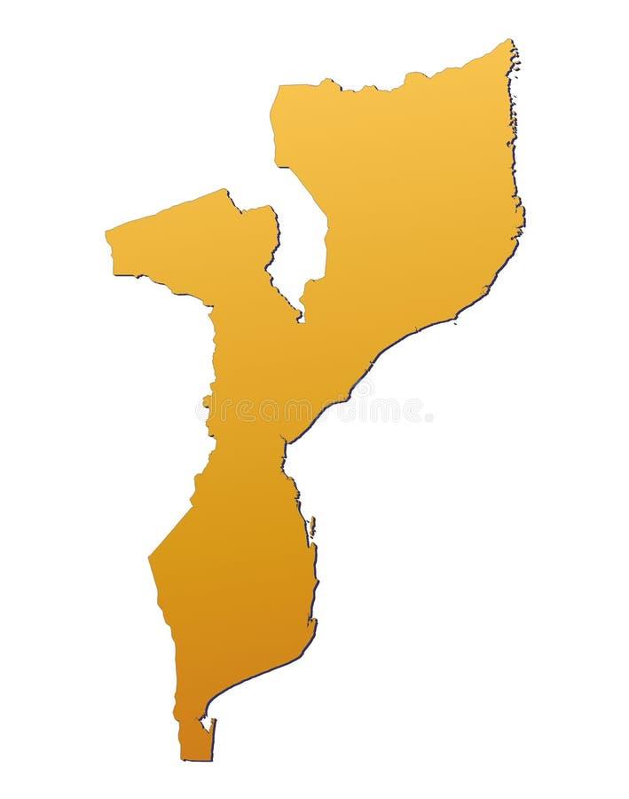 Carte Mozambique Image libre de droits