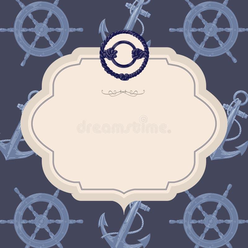 Carte nautique de vecteur images stock