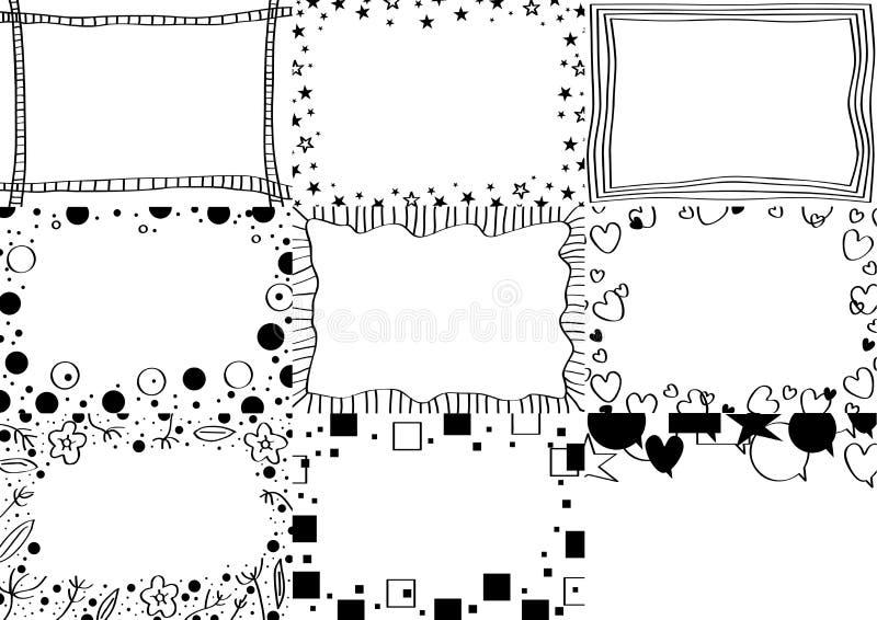 Carte noire et blanche illustration de vecteur