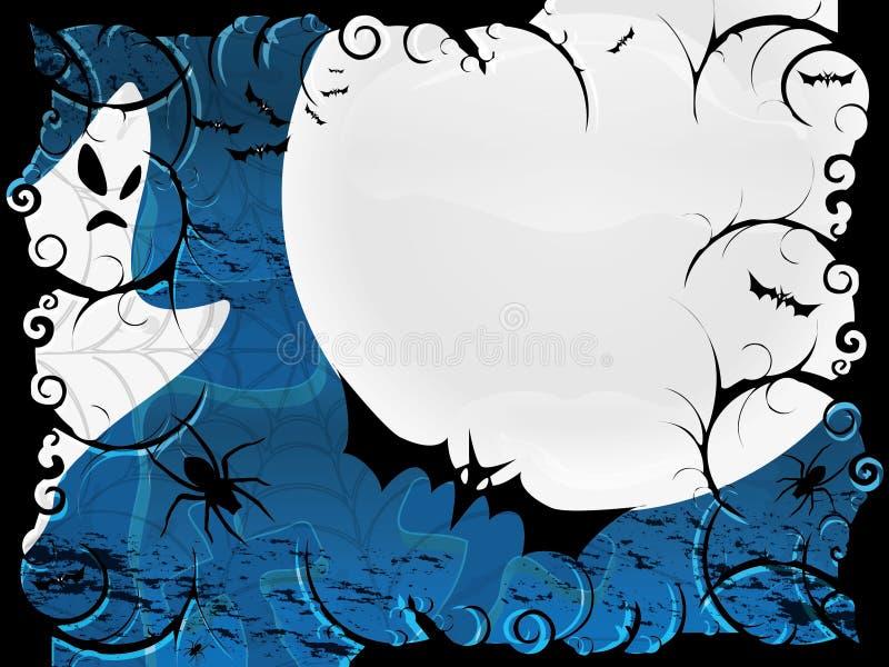 Carte ou fond de Veille de la toussaint dans la conception bleue illustration libre de droits
