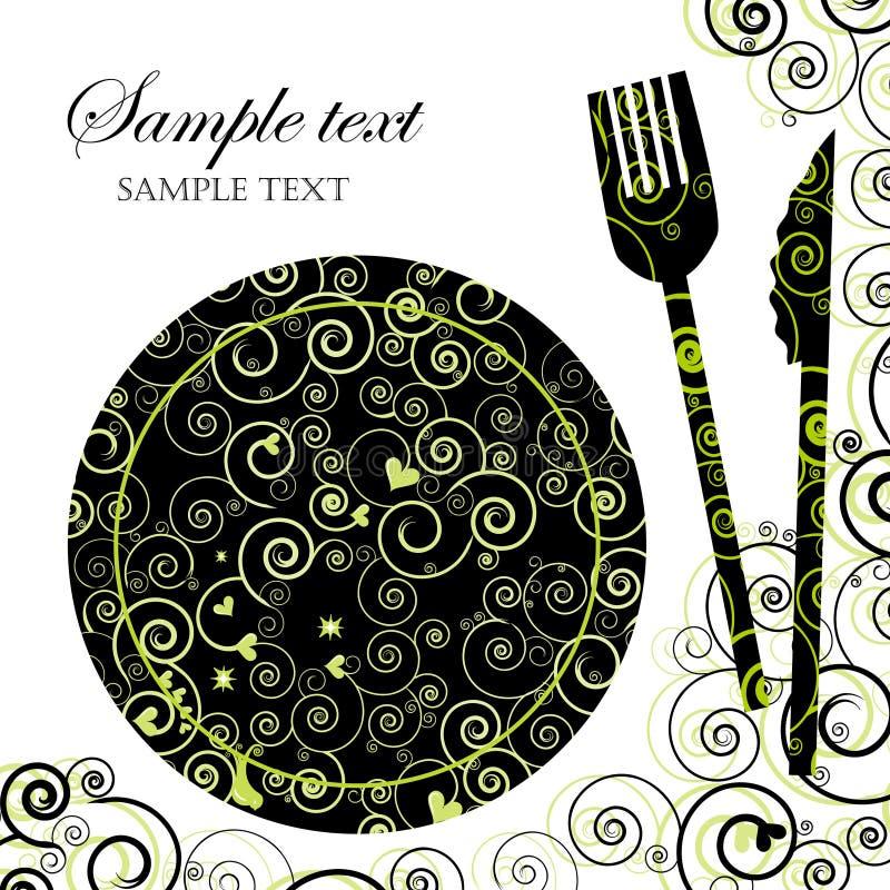 Carte ou invitation de dîner illustration stock