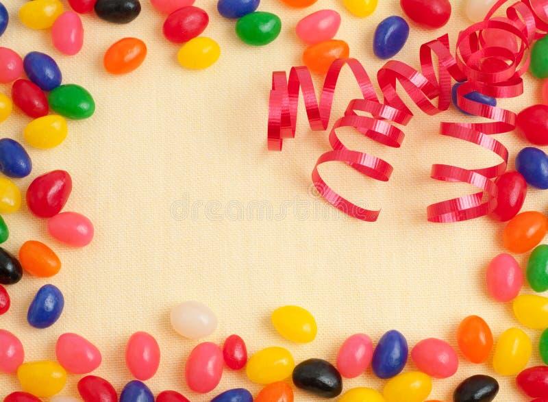 Carte ou invitation de fête d'anniversaire de dragée à la gelée de sucre photos libres de droits