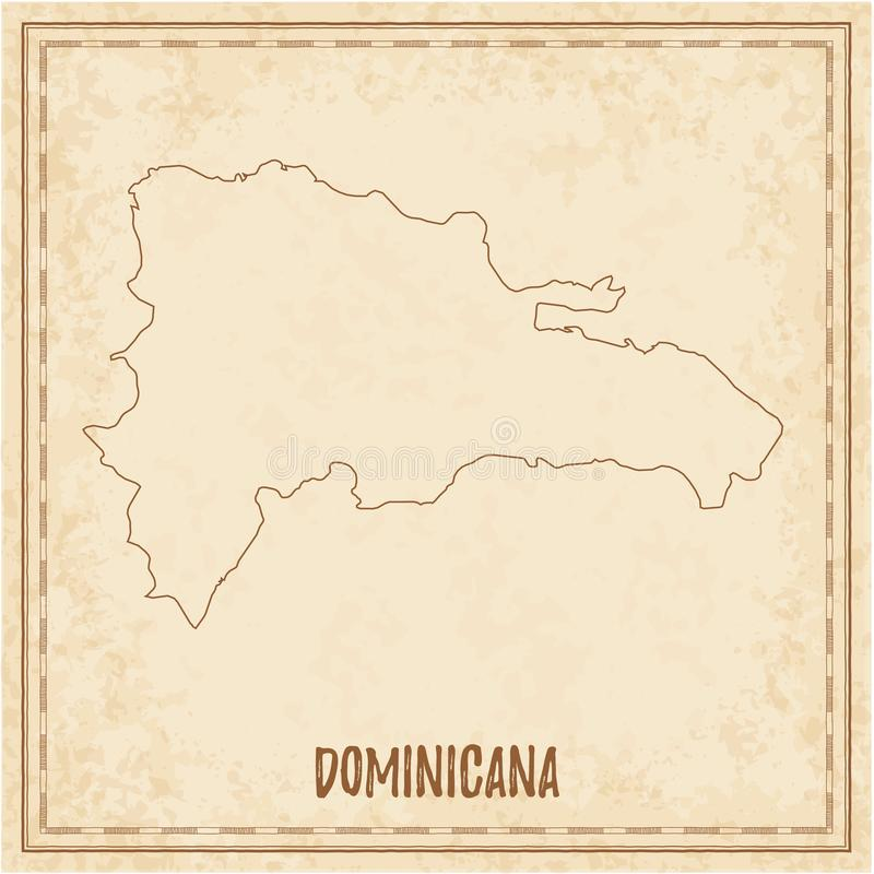 Carte pirate de Dominicana illustration de vecteur