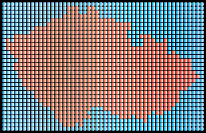 Carte pointillée illustration libre de droits