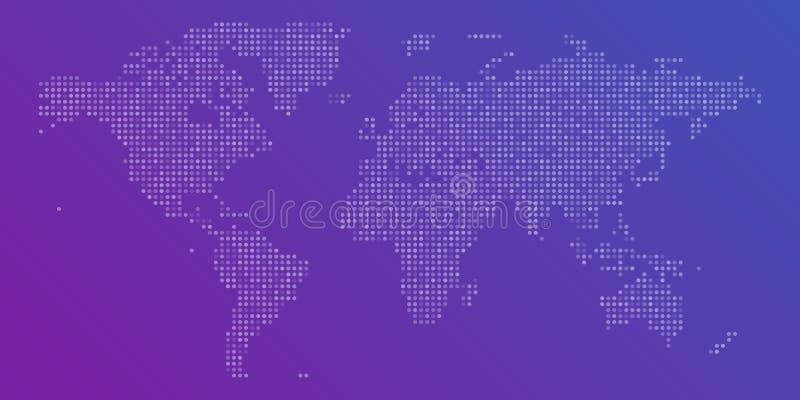 Carte pointillée colorée de vecteur du monde illustration libre de droits