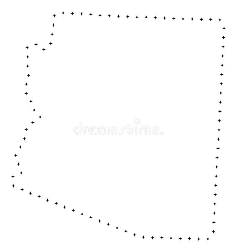 Carte pointillée d'état de l'Arizona de course illustration libre de droits