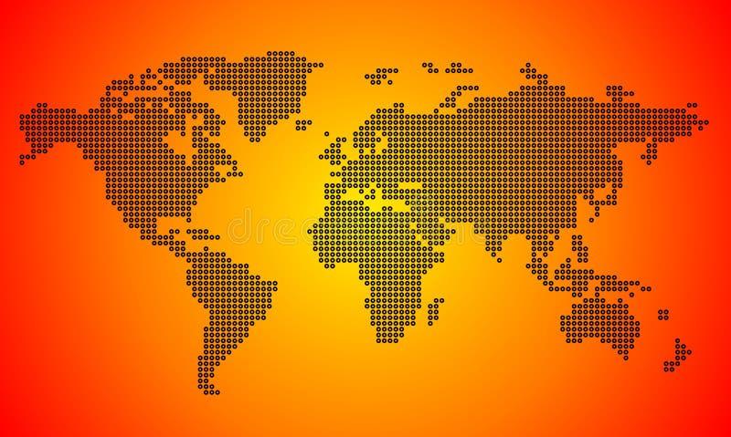 Carte pointillée du monde illustration de vecteur