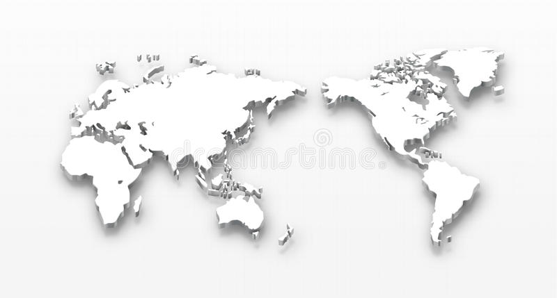 Carte pointillée du monde illustration stock