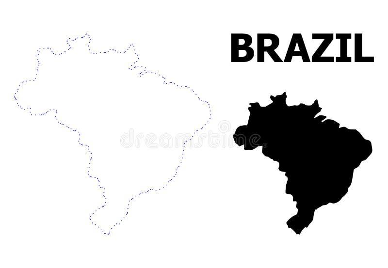 Carte Bresil Legende.Le Bresil Brasilia Capitale Goupillee Sur La Carte