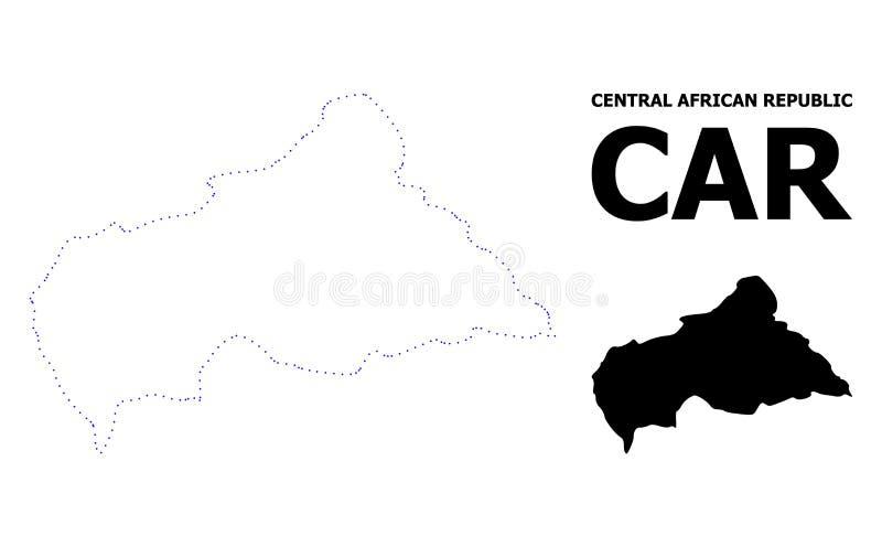 Carte pointill?e par d?coupe de vecteur de R?publique Centrafricaine avec la l?gende illustration de vecteur