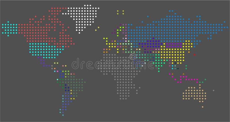 Carte pointill?e par vecteur du monde Une carte politique du monde illustration libre de droits