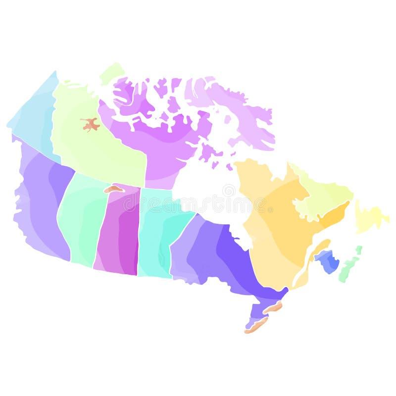 Carte politique de Canada illustration libre de droits