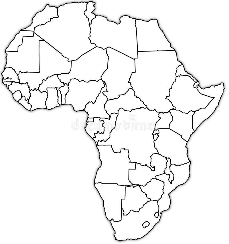 Carte politique de l'Afrique images libres de droits