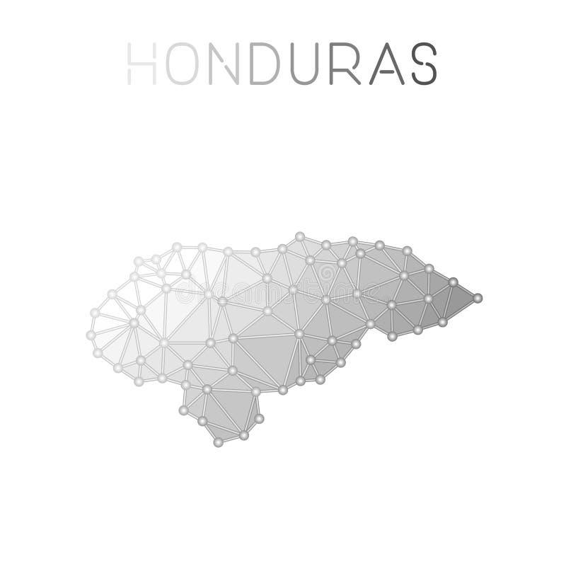 Carte polygonale de vecteur du Honduras illustration libre de droits