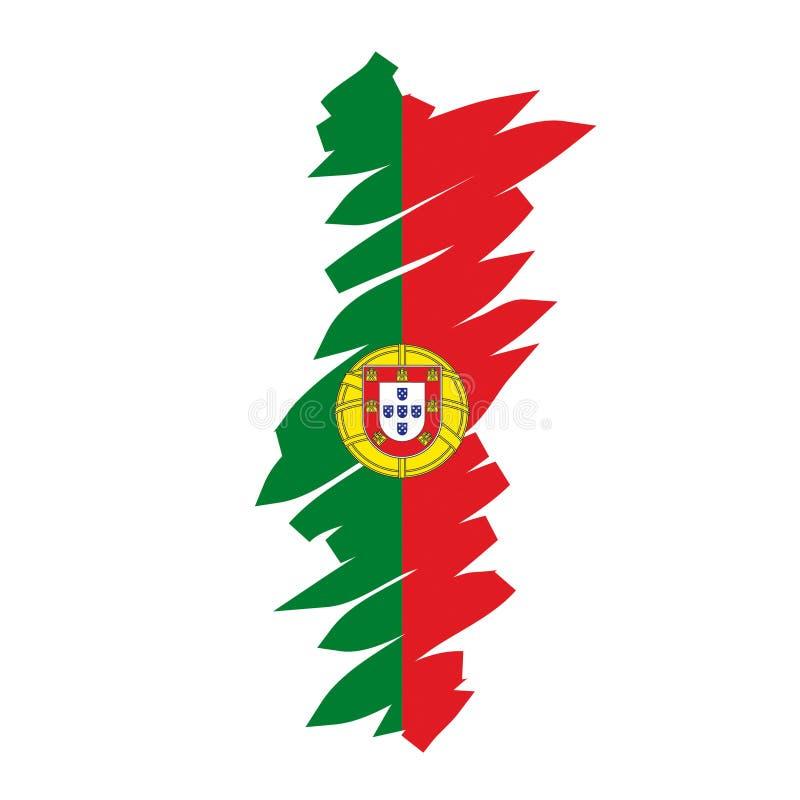 Carte Portugal de vecteur illustration stock