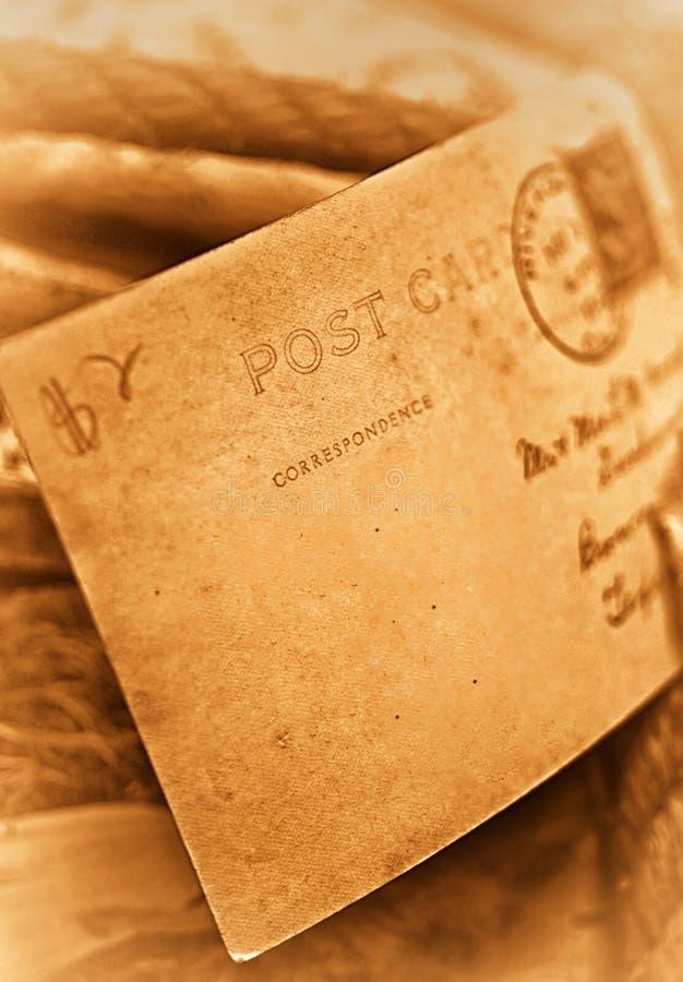 Carte postale âgée de cru photo libre de droits