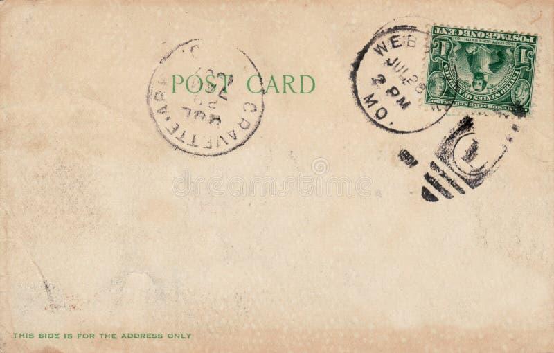 Carte postale 1907 antique images libres de droits