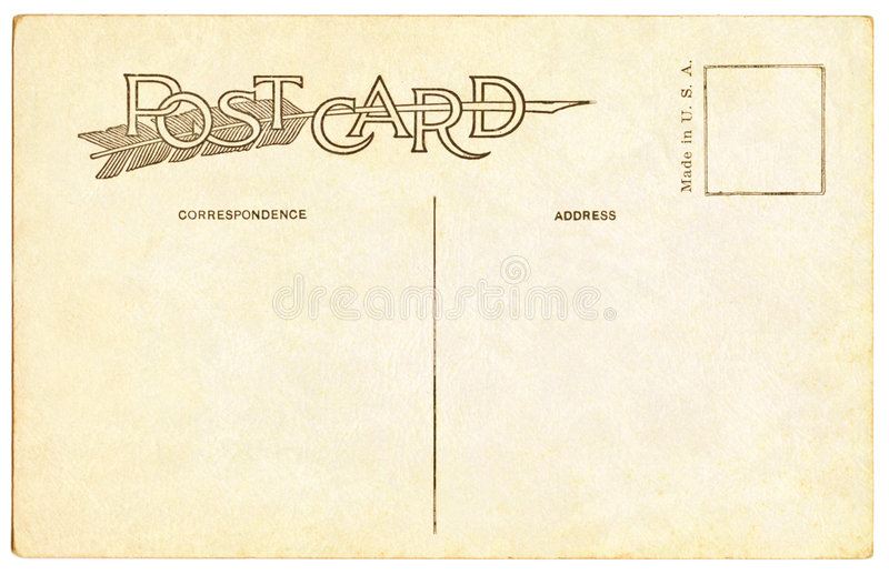Carte postale - 1910 image stock