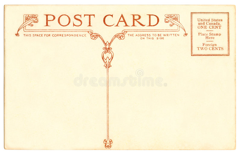 Carte postale - 1910 images stock