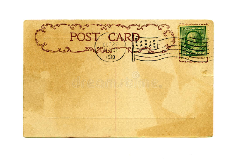 Carte postale antique photos libres de droits