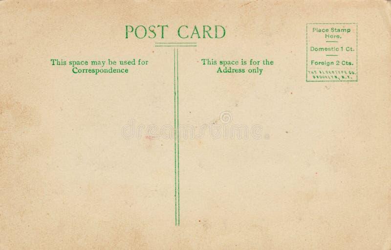 Carte postale arrière divisée de cru photographie stock libre de droits