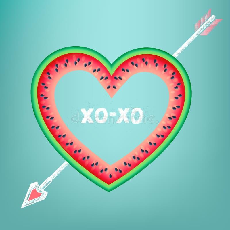 Carte postale au jour du ` s de Valentine avec le texte illustration de vecteur