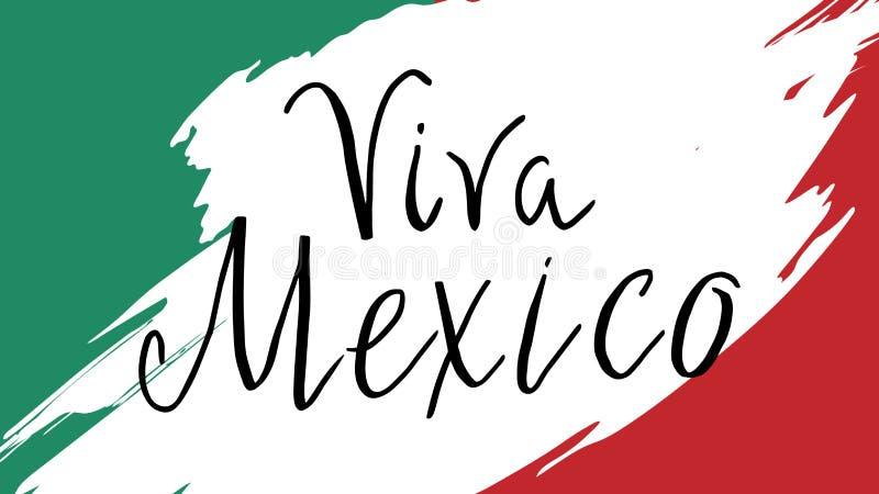 Carte postale avec des symboles mexicains illustration de vecteur