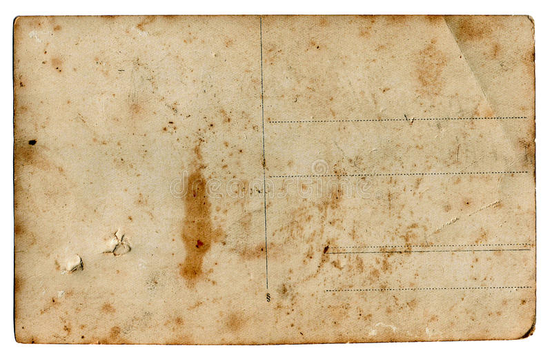 Carte postale blanc de cru images libres de droits
