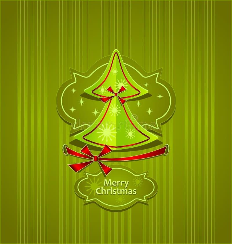 Carte postale créative d'arbre de Noël illustration libre de droits