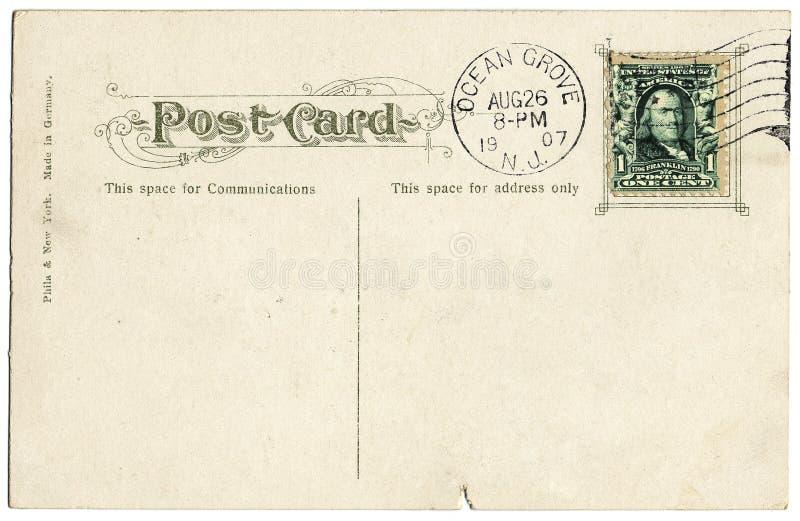 Carte postale de 1907 image libre de droits